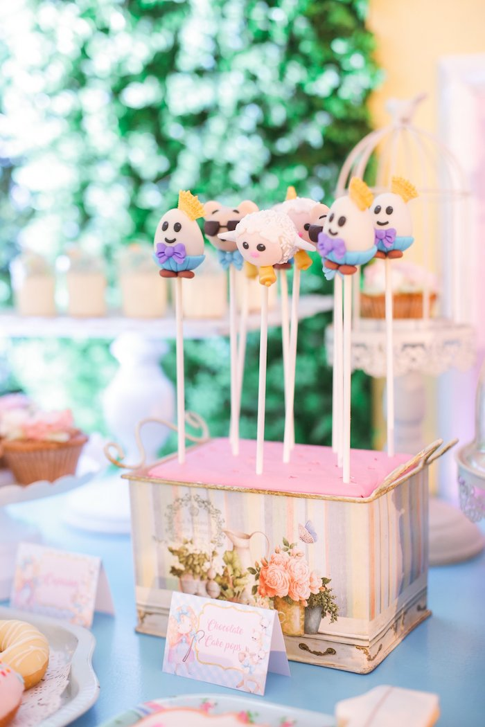 Nursery Rhyme Cake Pops from a Nursery Rhyme Birthday Party on Kara's Party Ideas | KarasPartyIdeas.com (8)