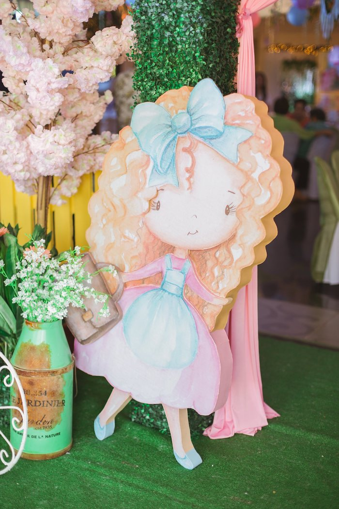 Little Bo Peep Standee from a Nursery Rhyme Birthday Party on Kara's Party Ideas | KarasPartyIdeas.com (35)