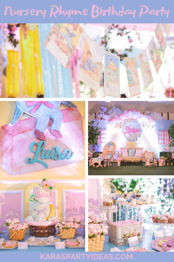 Nursery Rhyme Birthday Party via Kara's Party Ideas - KarasPartyIdeas.com