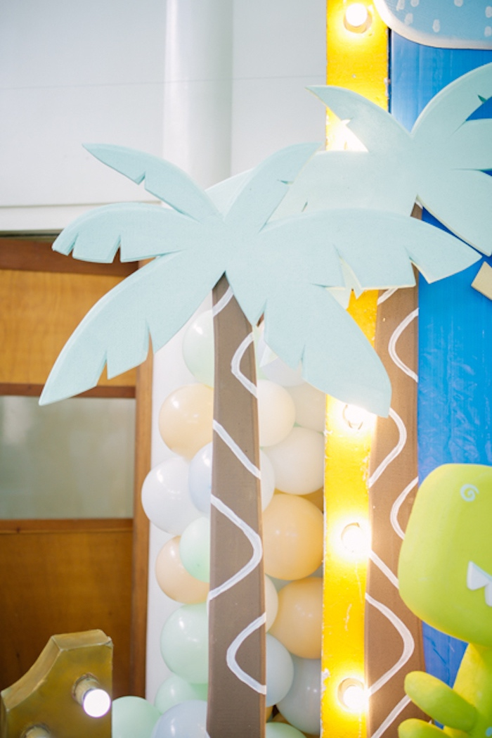 Palm Trees from a Pastel Dinosaur Birthday Party on Kara's Party Ideas | KarasPartyIdeas.com (22)