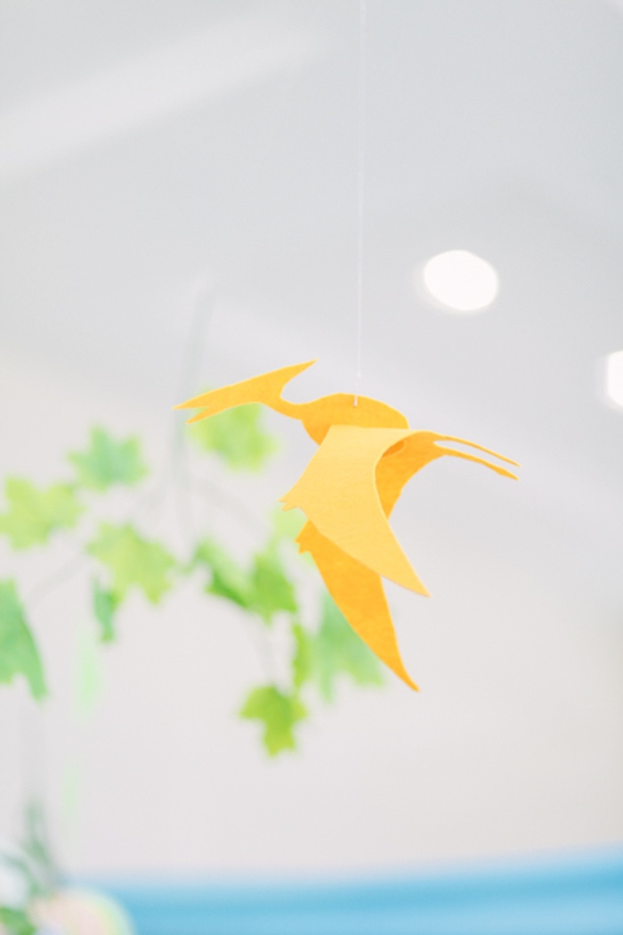 Hanging Pterodactyl Decoration from a Pastel Dinosaur Birthday Party on Kara's Party Ideas | KarasPartyIdeas.com (4)