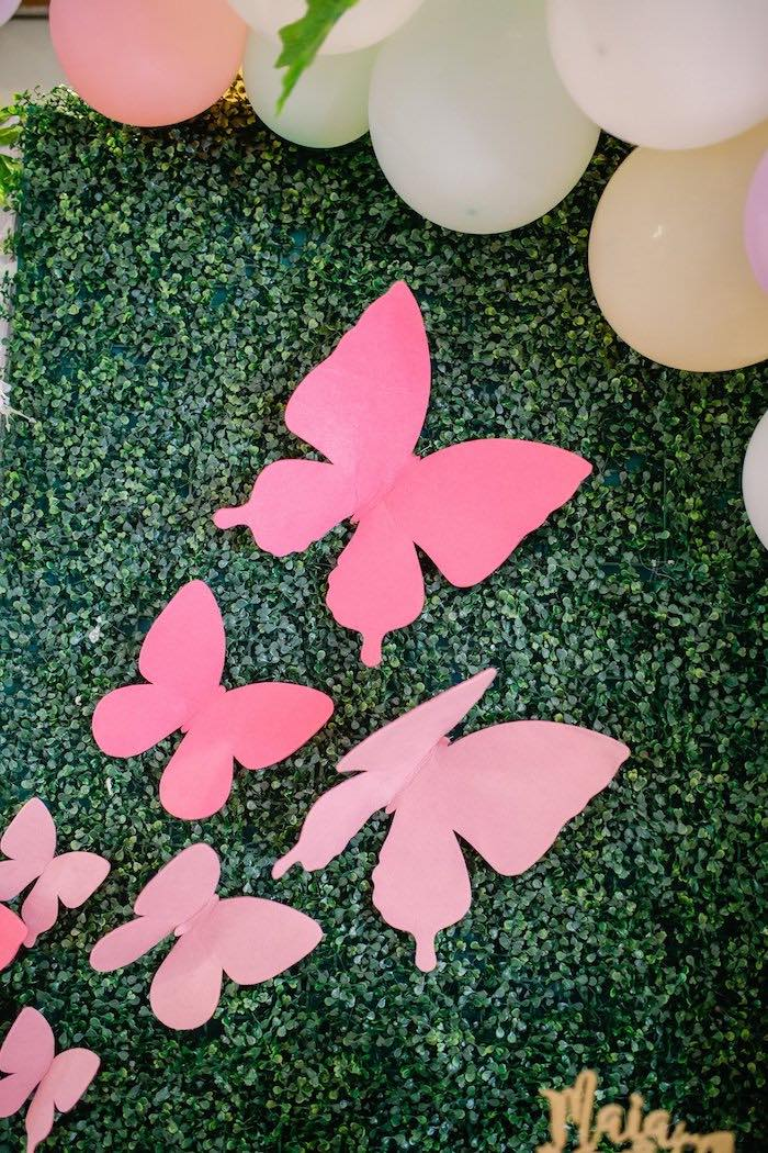 Paper Butterflies from a Pastel Garden Birthday Party on Kara's Party Ideas | KarasPartyIdeas.com (23)