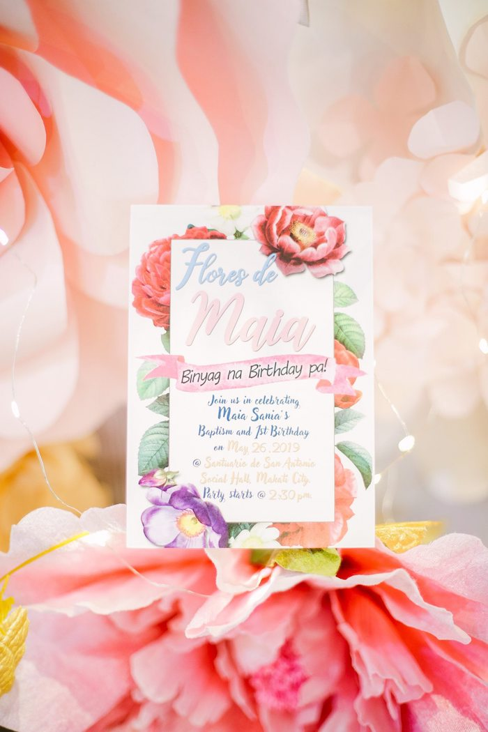 Garden Themed Party Invite from a Pastel Garden Birthday Party on Kara's Party Ideas | KarasPartyIdeas.com (20)