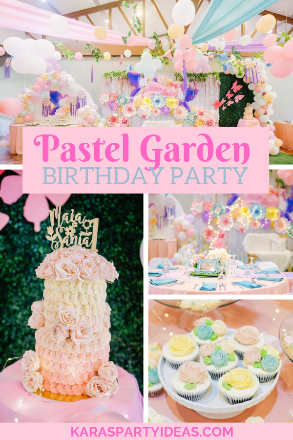 Pastel Garden Birthday Party via Kara's Party Ideas - KarasPartyIdeas.com