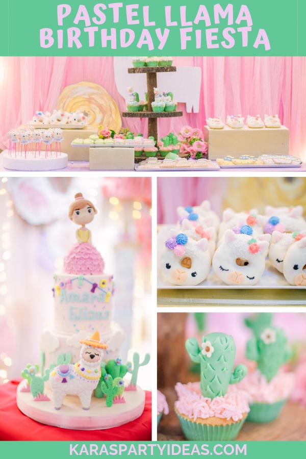 Pastel Llama Birthday Fiesta via Kara's Party Ideas - KarasPartyIdeas.com