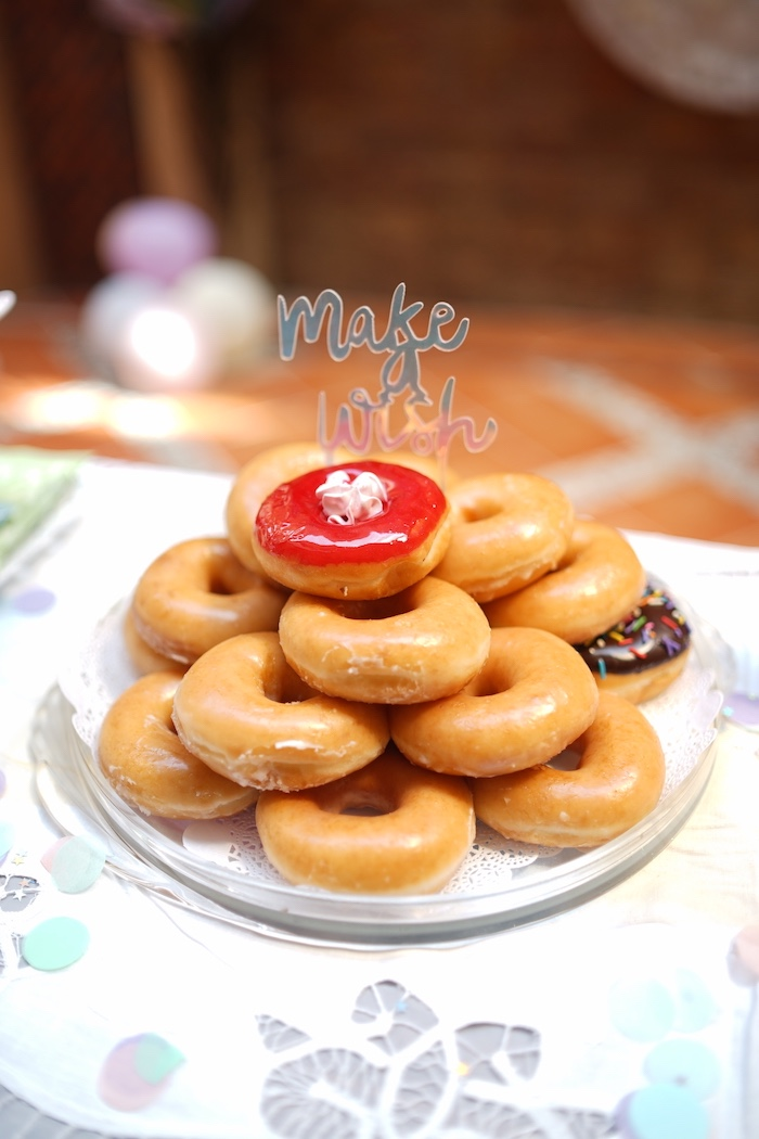 Donuts from a Pastel Unicorn Birthday Party on Kara's Party Ideas | KarasPartyIdeas.com (16)