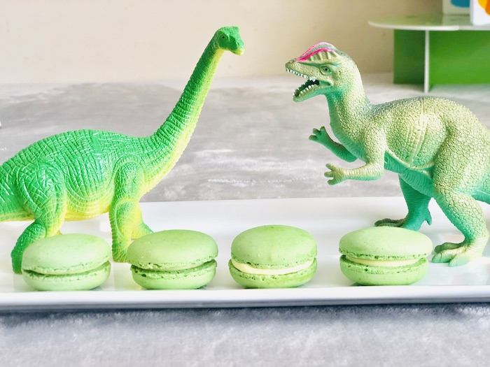 Green Macarons from a Roaring Dinosaur Birthday Party on Kara's Party Ideas | KarasPartyIdeas.com (28)