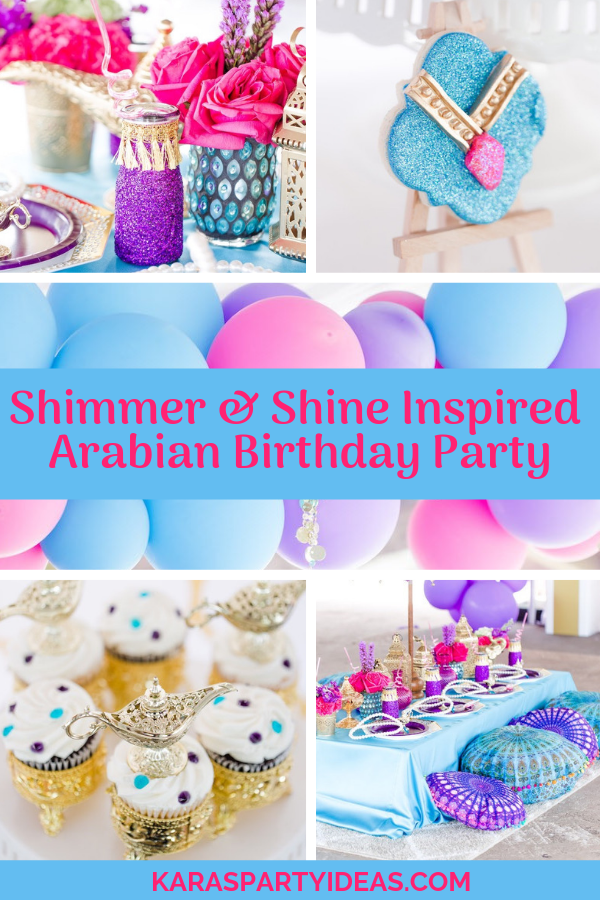 Shimmer & Shine Inspired Arabian Birthday Party via Kara's Party Ideas - KarasPartyIdeas.com