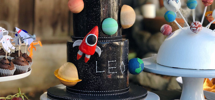 Space Galaxy Birthday Party on Kara's Party Ideas | KarasPartyIdeas.com (3)