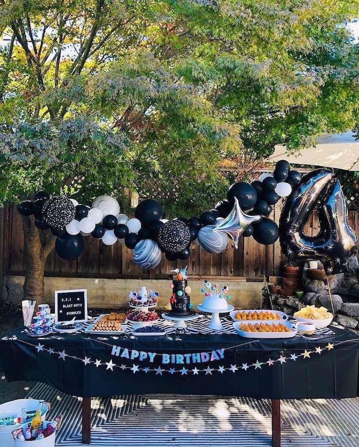 Space Galaxy Birthday Party on Kara's Party Ideas | KarasPartyIdeas.com (12)