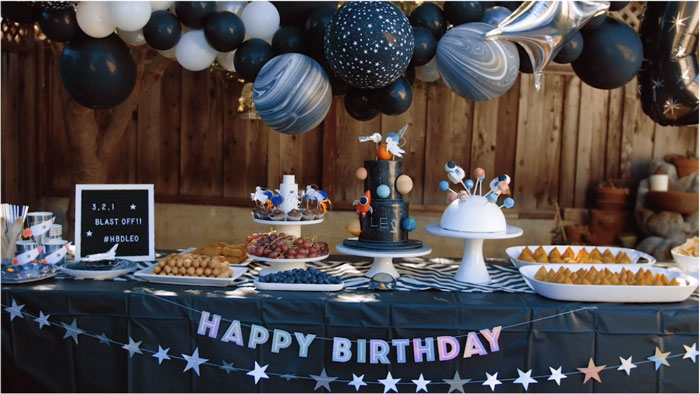 Space Themed Dessert Table from a Space Galaxy Birthday Party on Kara's Party Ideas | KarasPartyIdeas.com (4)