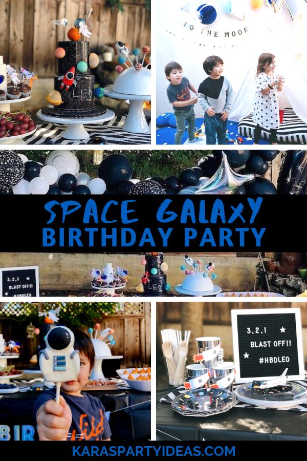 Space Galaxy Birthday Party via Kara's Party Ideas - KarasPartyIdeas.com