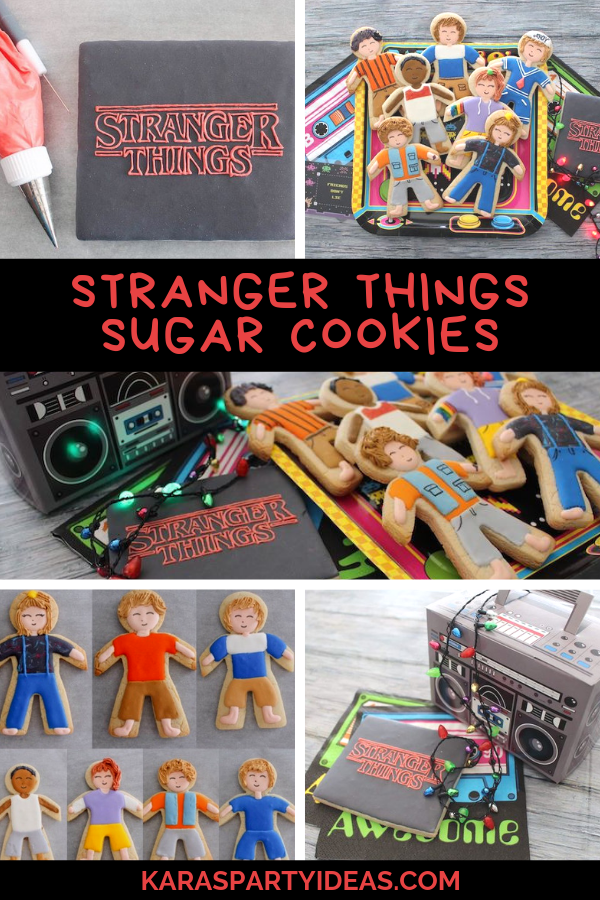 Stranger Things Sugar Cookies via Kara's Party Ideas - KarasPartyIdeas.com