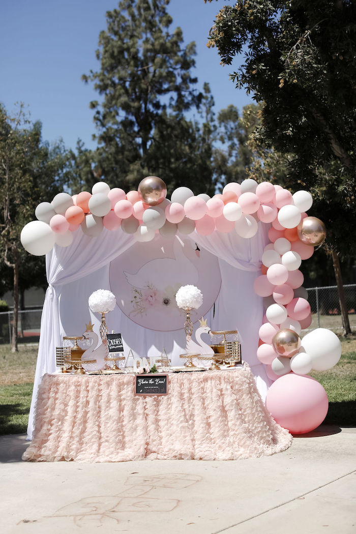 Sweet Swan 1st Birthday Party on Kara's Party Ideas | KarasPartyIdeas.com (17)