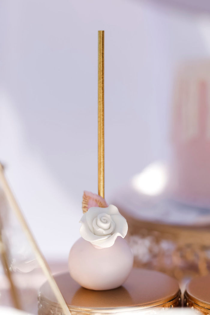 White Flower Cake Pop from a Sweet Swan 1st Birthday Party on Kara's Party Ideas | KarasPartyIdeas.com (11)