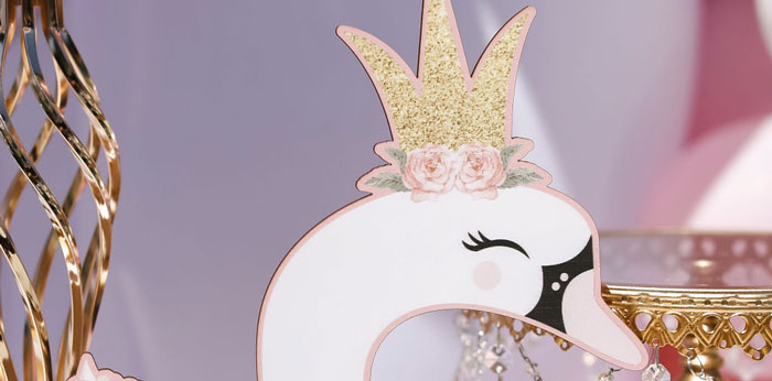 Sweet Swan 1st Birthday Party on Kara's Party Ideas | KarasPartyIdeas.com (5)