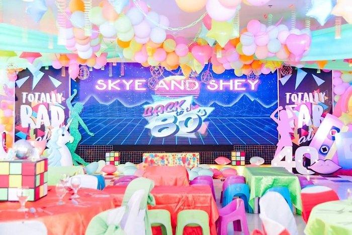 Totally Awesome 80's Neon Party via Kara's Party Ideas | KarasPartyIdeas.com (15)