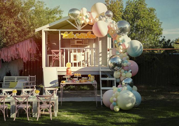 Vintage Chic Sunshine & Lemonade Party on Kara's Party Ideas | KarasPartyIdeas.com (26)