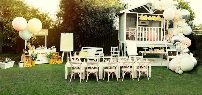 Vintage Chic Sunshine & Lemonade Party on Kara's Party Ideas | KarasPartyIdeas.com (21)