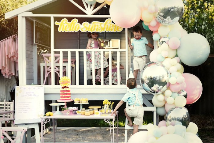 Vintage Chic Sunshine & Lemonade Party on Kara's Party Ideas | KarasPartyIdeas.com (28)