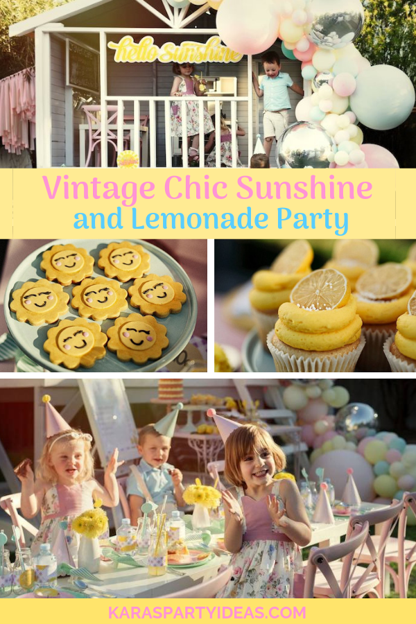 Vintage Chic Sunshine & Lemonade Party via KarasPartyIdeas - KarasPartyIdeas.com