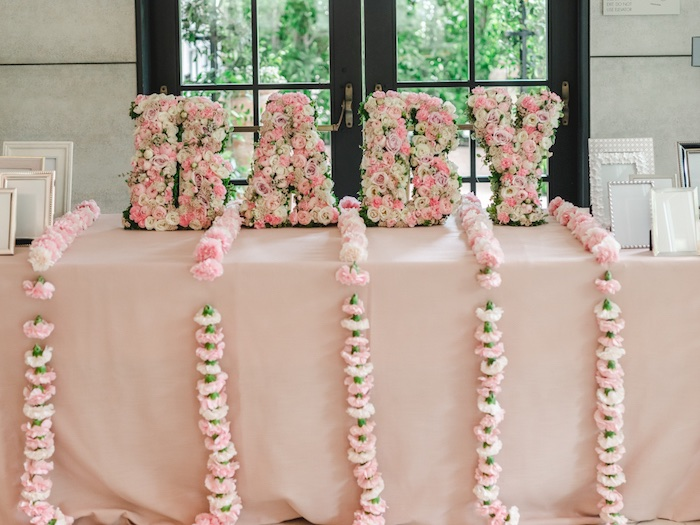 Floral BABY Block Letter Sign from a Vintage Garden Baby Shower on Kara's Party Ideas | KarasPartyIdeas.com (15)
