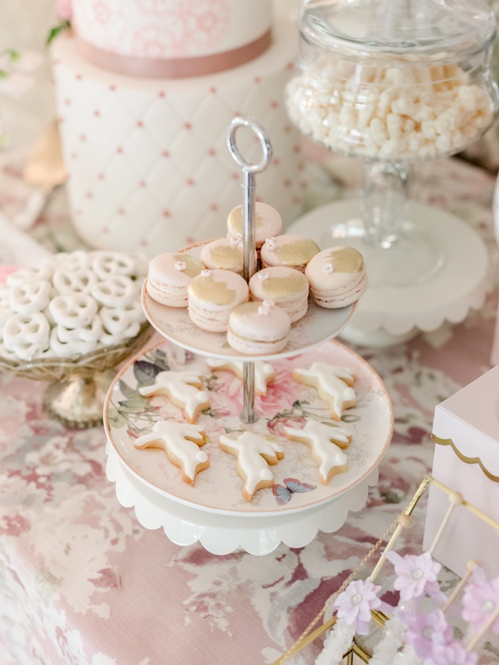 Macarons & Cookies from a Vintage Garden Baby Shower on Kara's Party Ideas | KarasPartyIdeas.com (8)