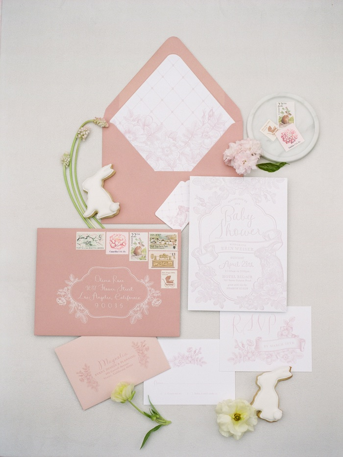Stationery from a Vintage Garden Baby Shower on Kara's Party Ideas | KarasPartyIdeas.com (4)
