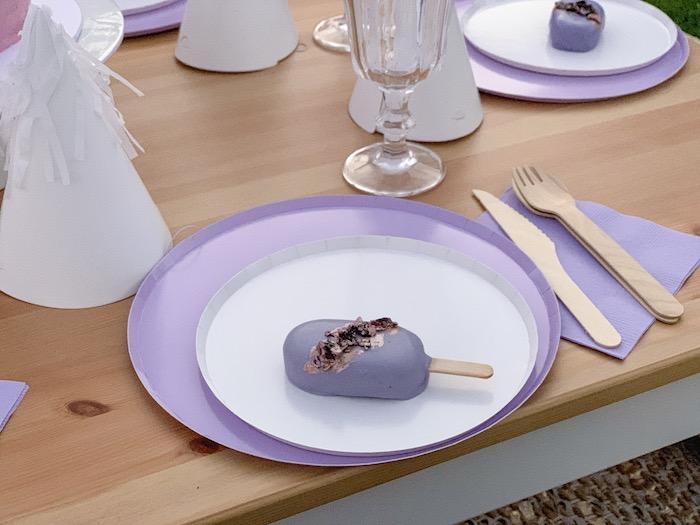 "Table Setting from a ""She's a Gem"" Boho Backyard Birthday Party on Kara's Party Ideas   KarasPartyIdeas.com (9)"