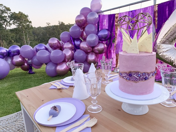 """She's a Gem"" Boho Backyard Birthday Party on Kara's Party Ideas 