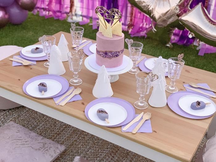 "Gem-inspired Guest Table from a ""She's a Gem"" Boho Backyard Birthday Party on Kara's Party Ideas | KarasPartyIdeas.com (10)"