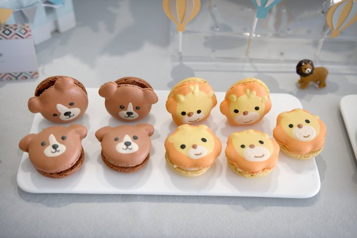 Animal Macarons from an Animals & Hot Air Balloons Birthday Party on Kara's Party Ideas | KarasPartyIdeas.com (6)