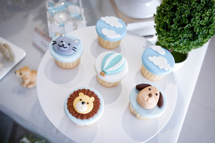 Animal + Sky Cupcakes from an Cupcakes from an Animals & Hot Air Balloons Birthday Party on Kara's Party Ideas | KarasPartyIdeas.com (16)