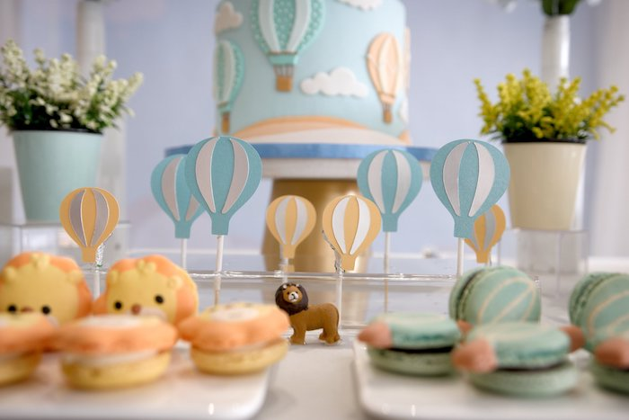 Hot Air Balloon Dessert Toppers from an Animals & Hot Air Balloons Birthday Party on Kara's Party Ideas | KarasPartyIdeas.com (15)
