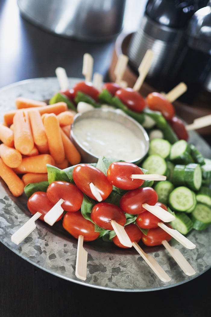 Veggie Tray from an Army Camouflage Birthday Party on Kara's Party Ideas | KarasPartyIdeas.com (3)
