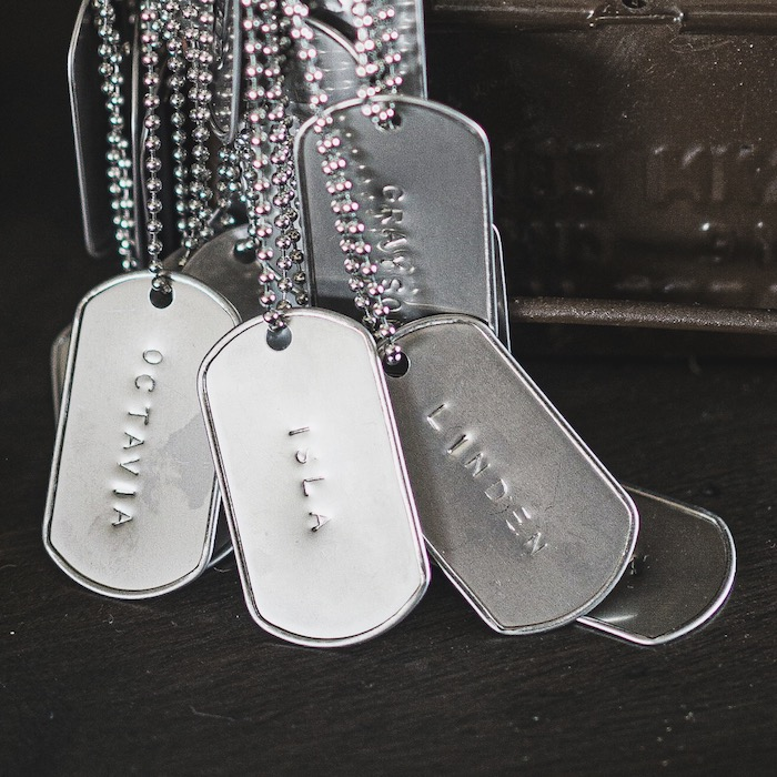 Personalized Dog Tag Favors from an Army Camouflage Birthday Party on Kara's Party Ideas | KarasPartyIdeas.com (10)