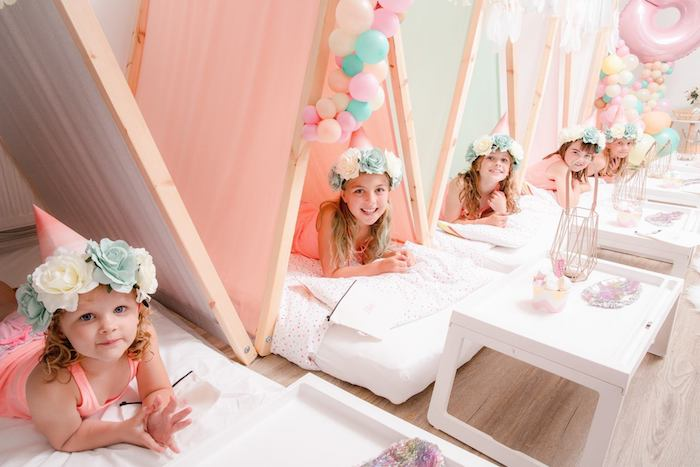 Boho Dreamcatcher Sleepover Birthday Party on Kara's Party Ideas | KarasPartyIdeas.com (15)