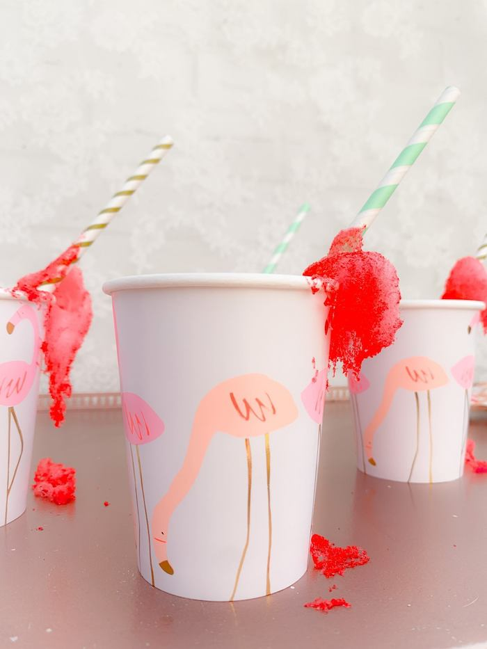 Flamingo Cups from a Boho Dreamcatcher Sleepover Birthday Party on Kara's Party Ideas | KarasPartyIdeas.com (14)