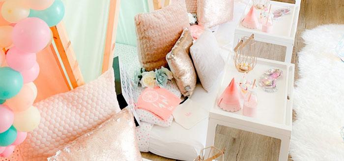 Boho Dreamcatcher Sleepover Birthday Party on Kara's Party Ideas   KarasPartyIdeas.com (1)