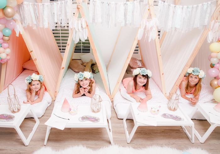 Boho Dreamcatcher Sleepover Birthday Party on Kara's Party Ideas | KarasPartyIdeas.com (26)