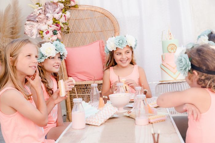 Boho Dreamcatcher Sleepover Birthday Party on Kara's Party Ideas | KarasPartyIdeas.com (22)