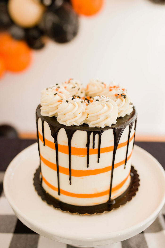Halloween Drip Cake from a Classic Halloween Party for Kids on Kara's Party Ideas | KarasPartyIdeas.com (26)