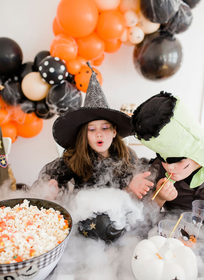 'Boiling' Cauldron from a Classic Halloween Party for Kids on Kara's Party Ideas | KarasPartyIdeas.com (25)