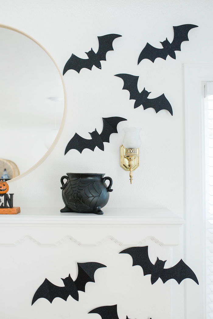 Wall Bat Decorations from a Classic Halloween Party for Kids on Kara's Party Ideas | KarasPartyIdeas.com (23)
