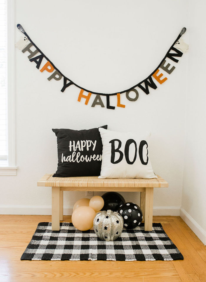 Halloween Bench + Photo Booth from a Classic Halloween Party for Kids on Kara's Party Ideas | KarasPartyIdeas.com (41)