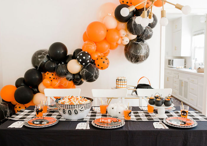 Halloween Party Table from a Classic Halloween Party for Kids on Kara's Party Ideas | KarasPartyIdeas.com (19)