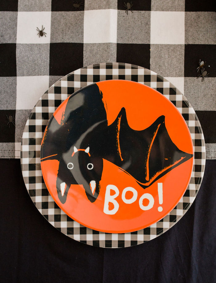 Halloween Bat Table Setting from a Classic Halloween Party for Kids on Kara's Party Ideas | KarasPartyIdeas.com (40)