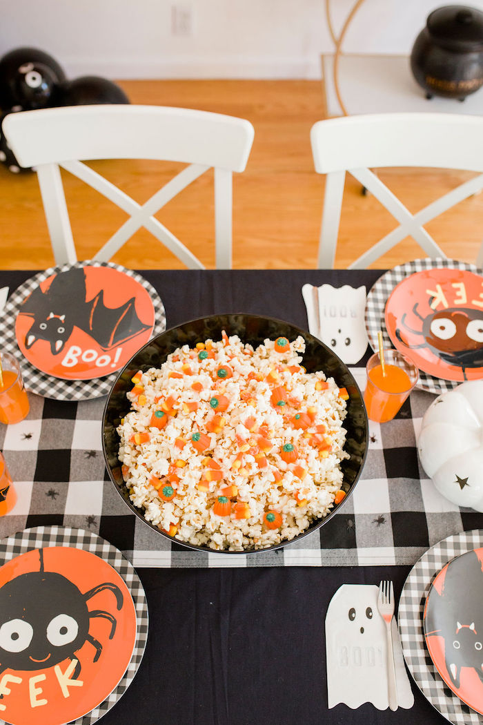 Halloween Party Table + Table Settings from a Classic Halloween Party for Kids on Kara's Party Ideas | KarasPartyIdeas.com (35)