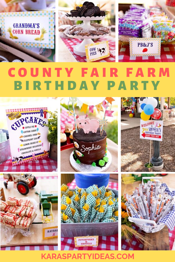 County Fair Farm Birthday Party via Kara's Party Ideas - KarasPartyIdeas.com