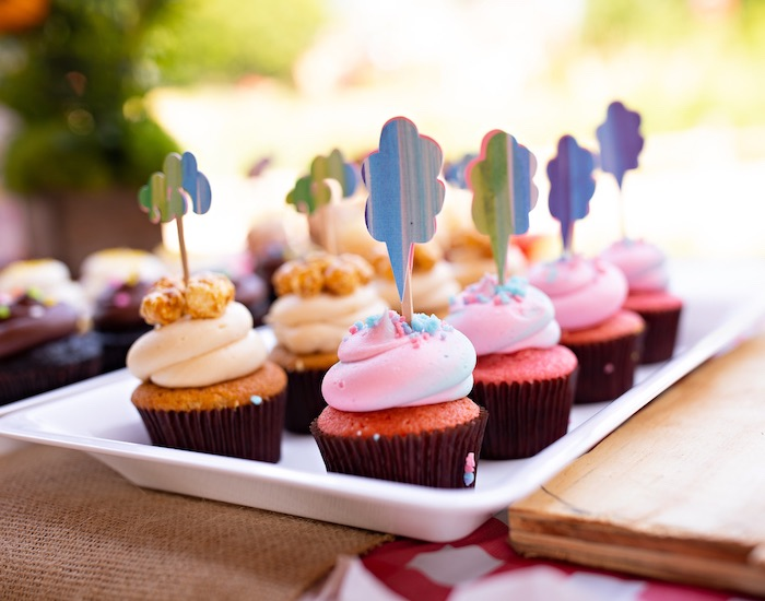 Cupcakes from a County Fair Inspired Farm Birthday Party on Kara's Party Ideas | KarasPartyIdeas.com (31)